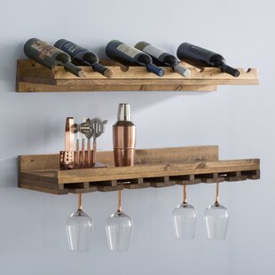 Trent Austin Design Berlyn 2 Piece 8 Bottle Wall Mounted Wine Rack Set