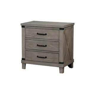 Rhone 3 Drawer Nightstand by Gracie Oaks