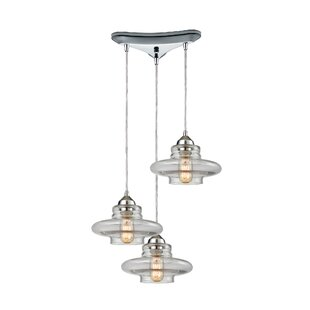 Toothman 3-Light Pendant by Br..