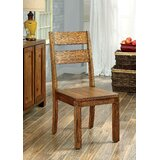 Silvis Ladder Back Side Chair in Brown (Set of 2) by Millwood Pines