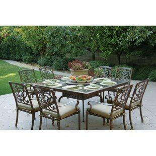 Palazzo Sasso Traditional 10 Piece Dining Set with Cushions