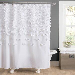 White Shower Curtain shower curtains   birch lane