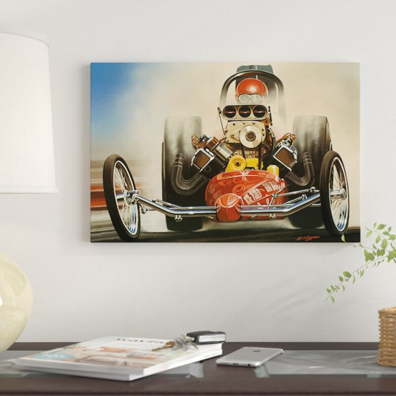 'Top Fuel Dragster' Graphic Art Print on Canvas