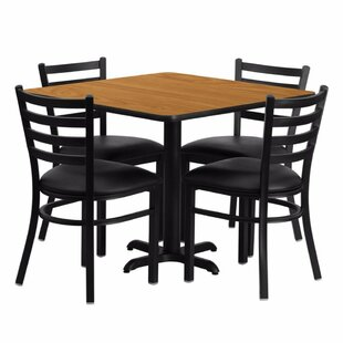 Alvarado Square Laminate 5 Piece Dining Set Red Barrel Studio