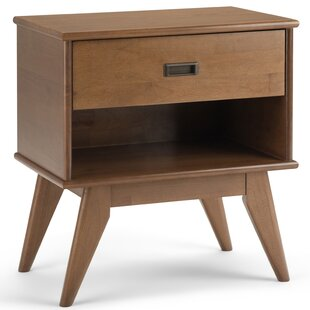 Hamill Mid Century 1 Drawer Nightstand