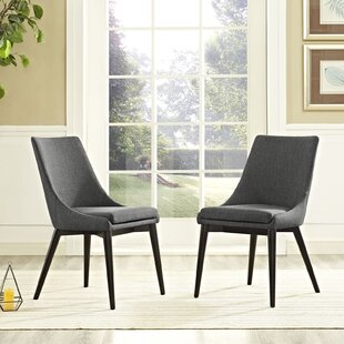 Carlton Wood Leg Upholstered Dining Chair by Corrigan Studio Comparison