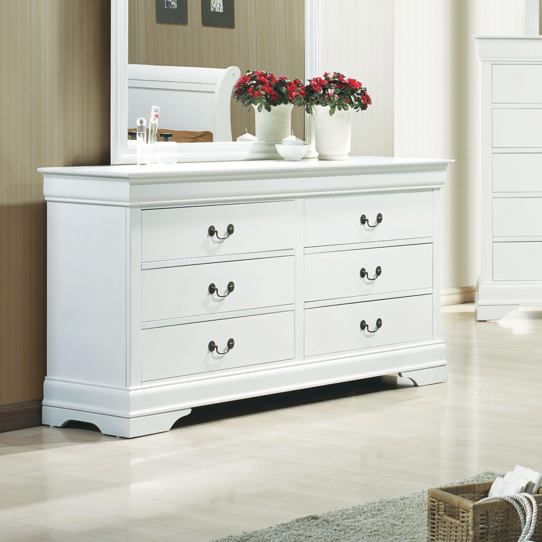 Canora Grey Melancon 6 Drawer Double Dresser Wayfair