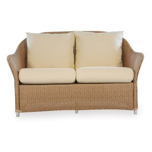Lloyd Flanders Weekend Retreat Loveseat with Cushions