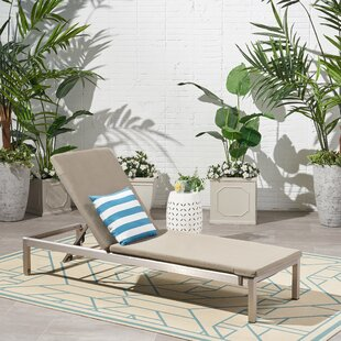Darcy Outdoor Reclining Chaise Lounge With Cushion By Orren Ellis