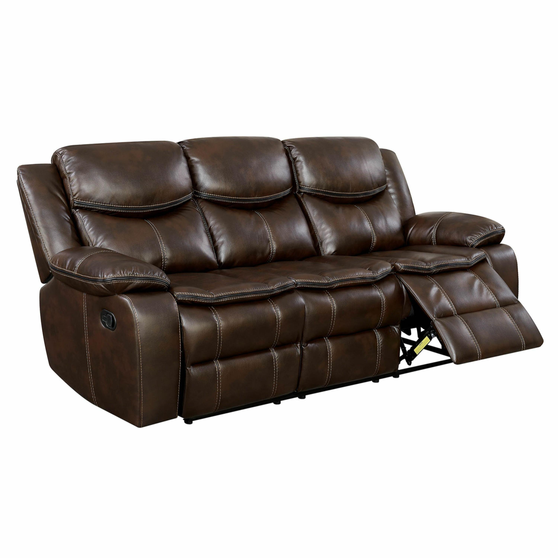 Helmer Leather Reclining Sofa