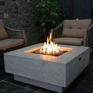 Manhattan Concrete Gas Fire Pit Table