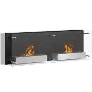 Flynn Ventless Wall Mounted Bio-Ethanol Fireplace By Orren Ellis