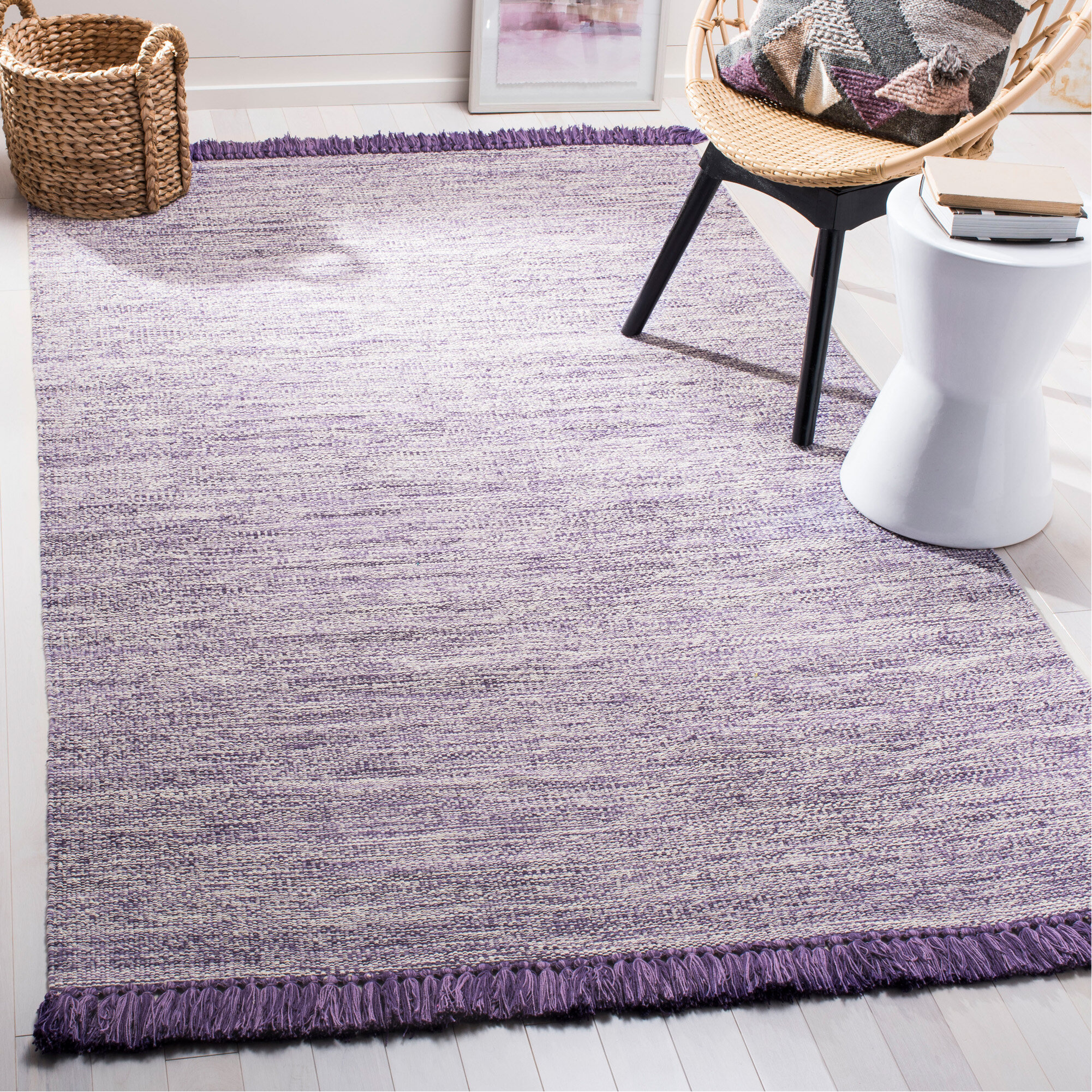 Meagan Handmade Flatweave Cotton Purple