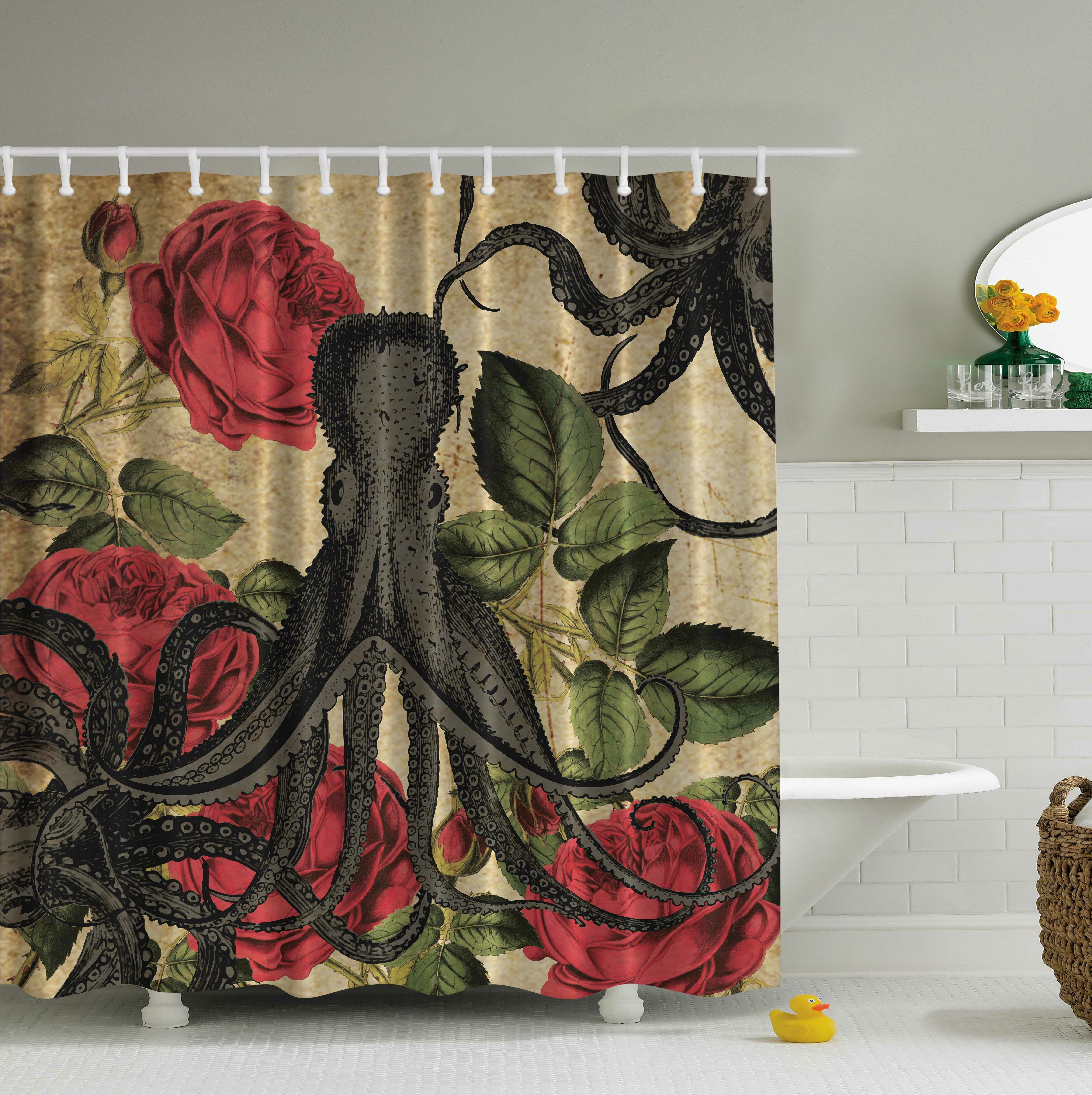 curtains products roses curtain guns and with sweet mat shower