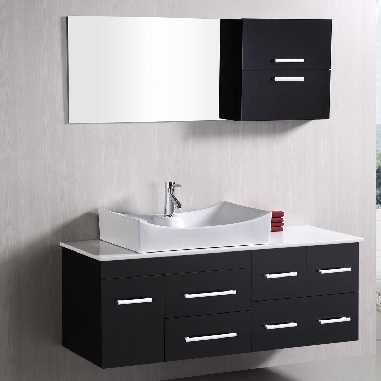 Brayden Studio Newcastle 55 Single Bathroom Vanity Set With Mirror Reviews Wayfair