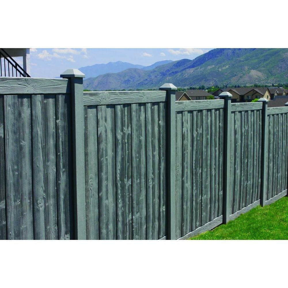 Simtek 6 Ft H X 6 Ft Ashland Composite Fence Panel Wayfair