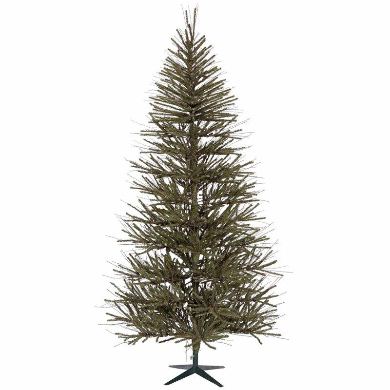 Vickerman Vienna Twig 6' Green Slim Artificial Christmas Tree ...