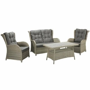 Wrenly 4 Seater Rattan Sofa Set By Bay Isle Home
