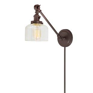 Gracie Oaks Martucci Double Swivel 1-Light Plug-In Swing Arm Lamp