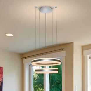 Orren Ellis Evelyn LED 2-Light Geometric Chandelier