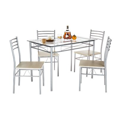 Ebern Designs Liles 5 Piece Breakfast Nook Dining Set