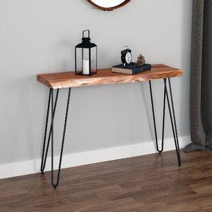 Spurlin Acacia Wood Console Table
