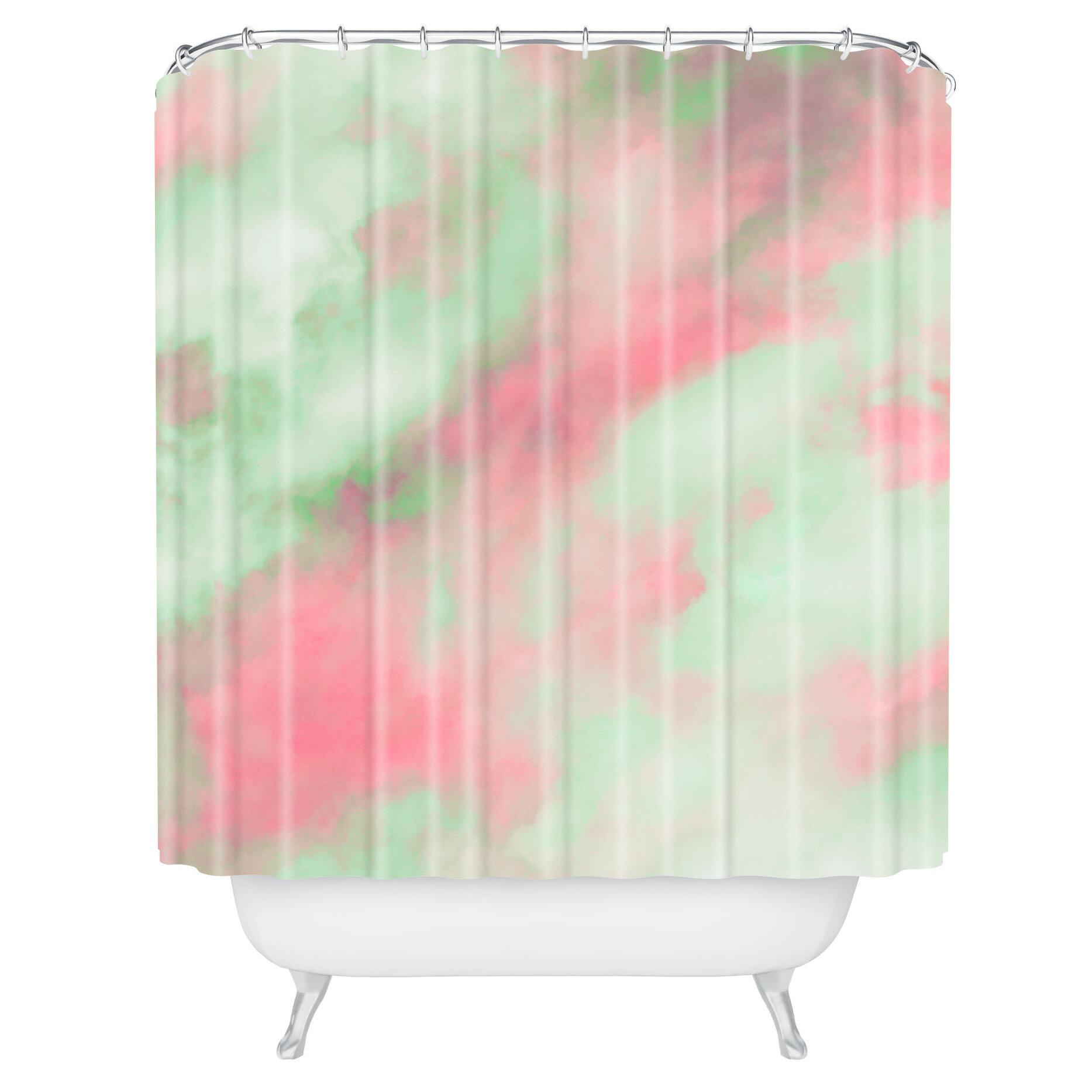 Caleb Troy Pastel Christmas Single Shower Curtain