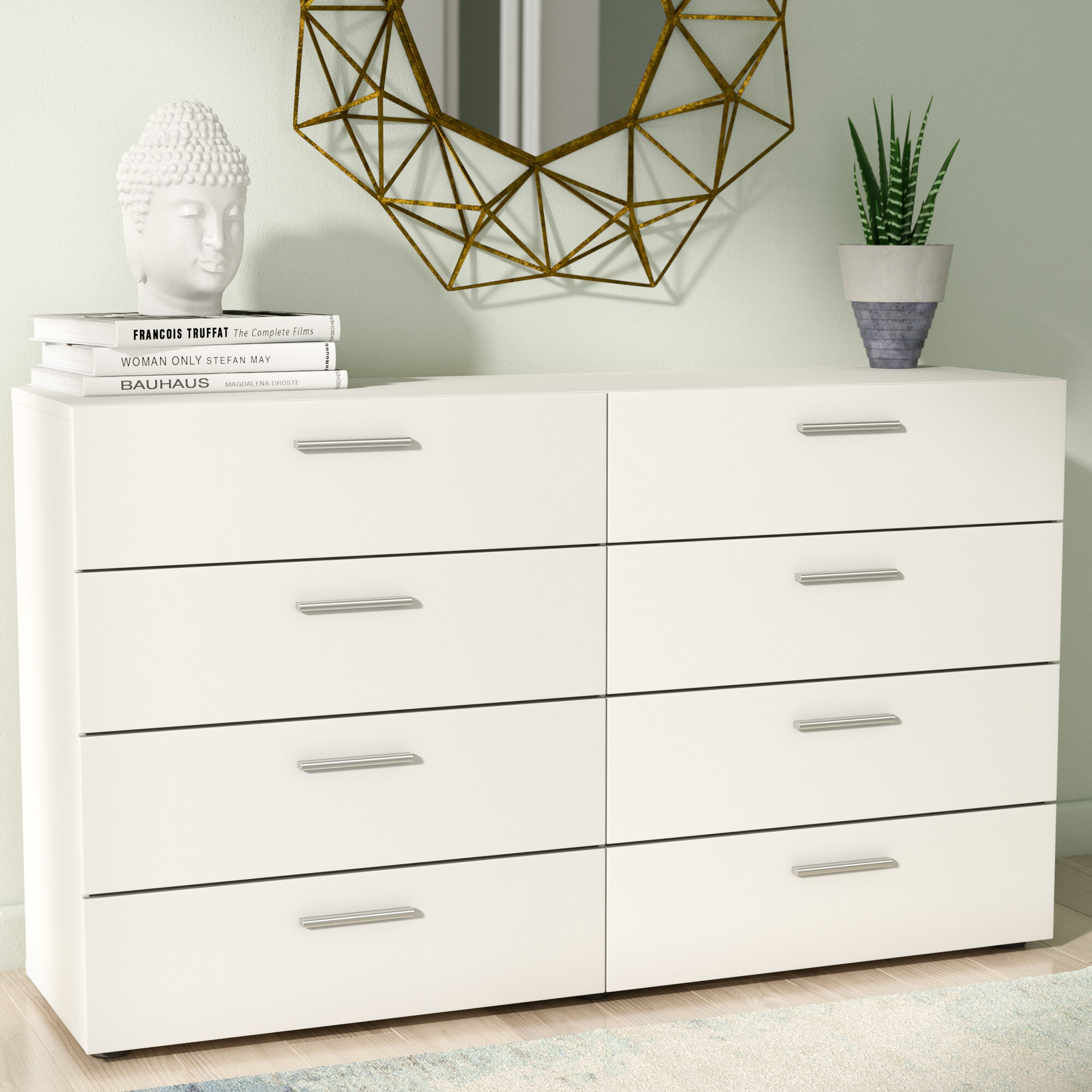 modern contemporary white dressers