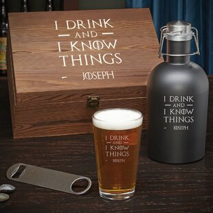 Bodkin I Drink and I Know Things Custom 4 Piece Beverage Serving Set (Set of 4)