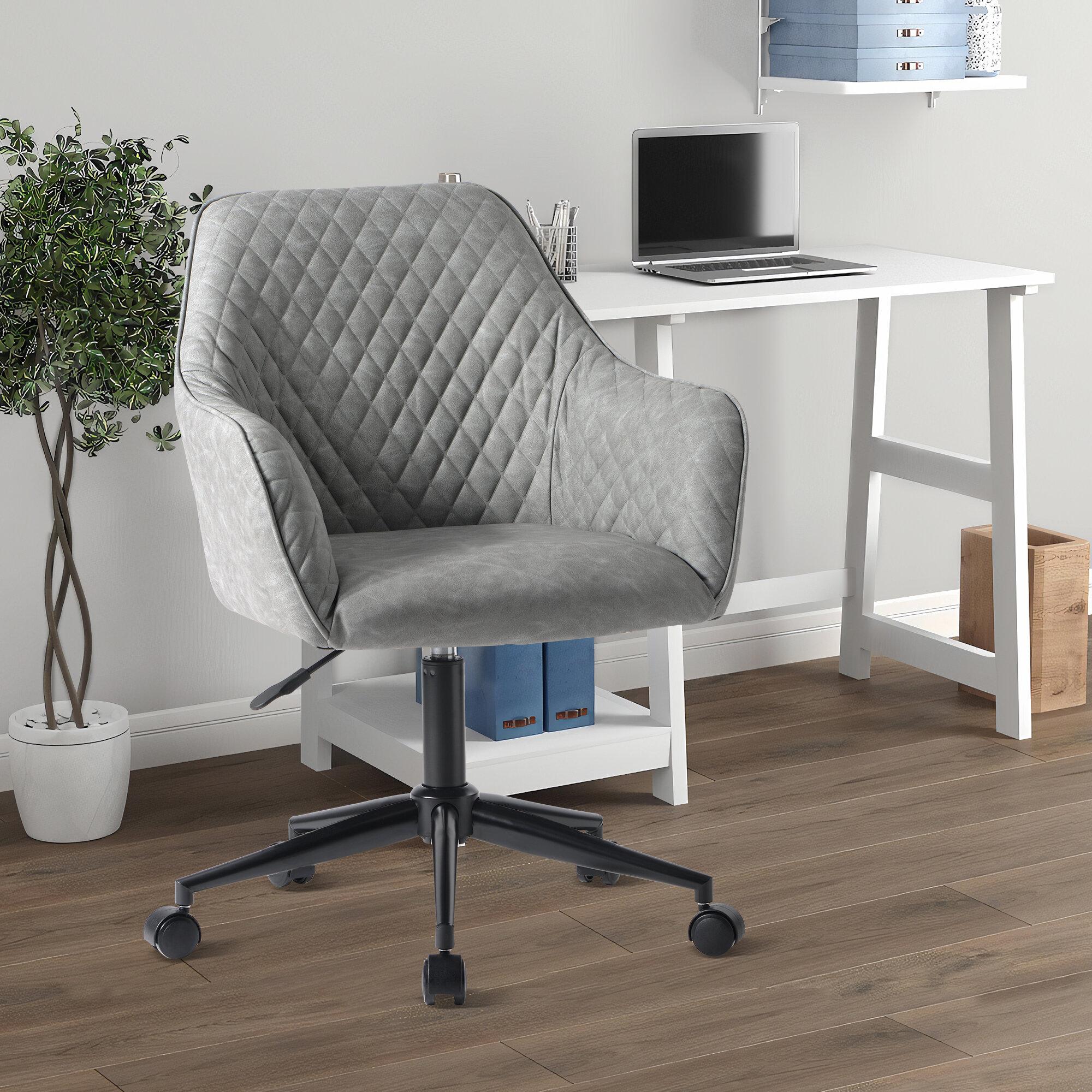 Ebern Designs Parchure Upholstered Desk Chair Reviews Wayfair Co Uk