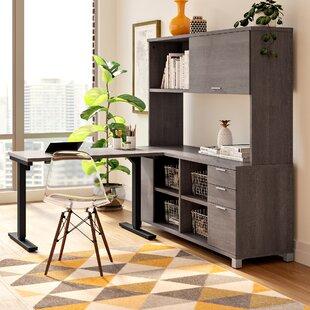 Wrought Studio Pham L-Shape Desk Office Suite