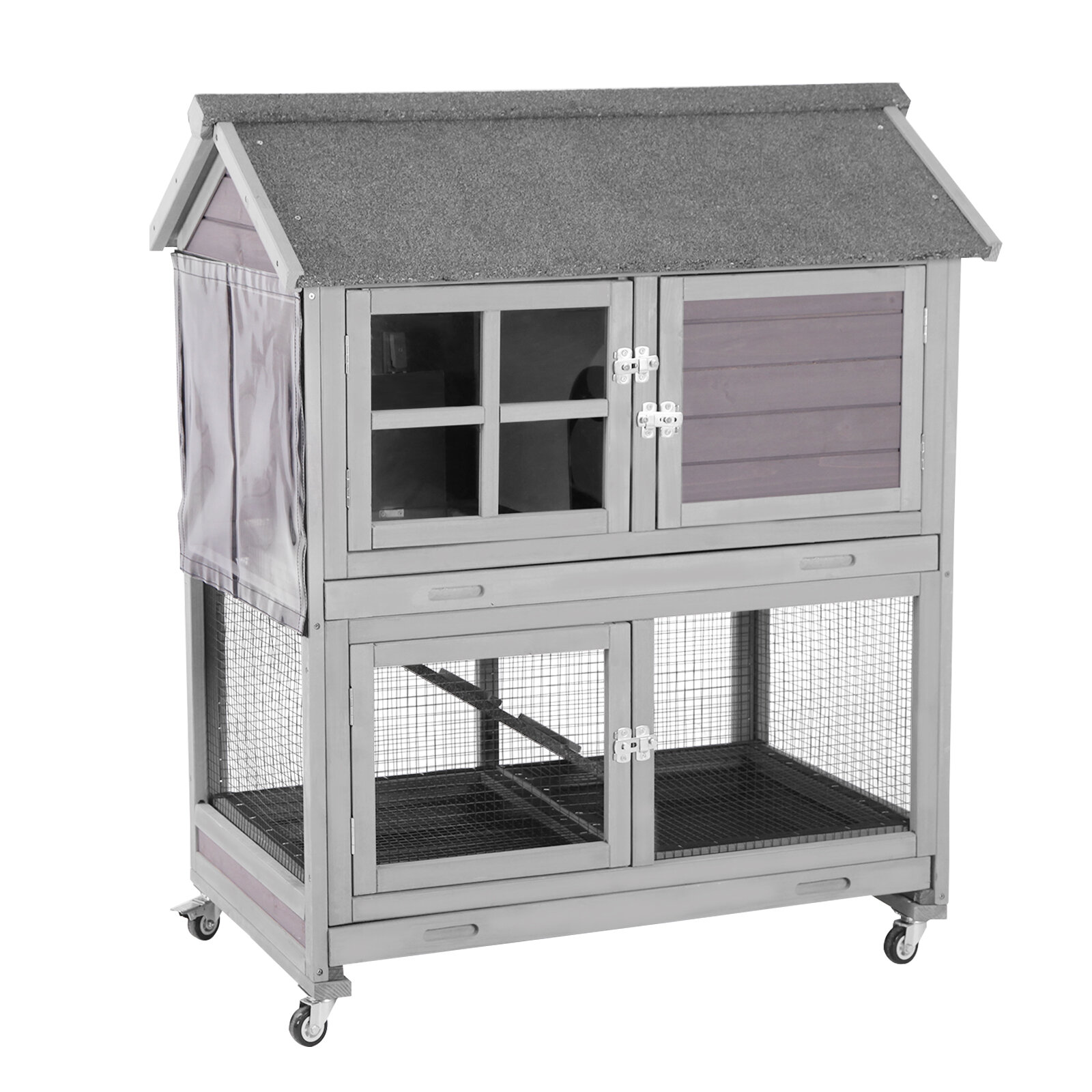 Tucker Murphy Pet Matthias Weather Resistant Rabbit Hutch With Ramp Reviews Wayfair