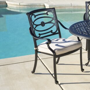 Croydon Stationary Stacking Patio Dining Chair with Cushion (Set of 4)