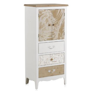 Rohini Wooden 3 Drawer Combi Chest By World Menagerie