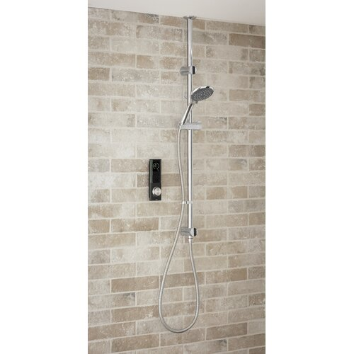 Home Digital Shower with Slider Rail Triton Showers Black