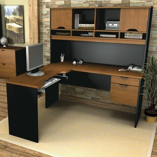 Bestar Innova 4 Piece L-Shape Desk Office Suite