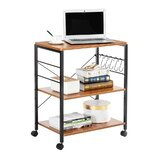 Aoibhe Microwave 3-Tier Kitchen Cart with Manufactured Wood Top by Latitude Run