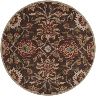 Topaz Hand-Tufted Wool Dark Brown Area Rug by World Menagerie