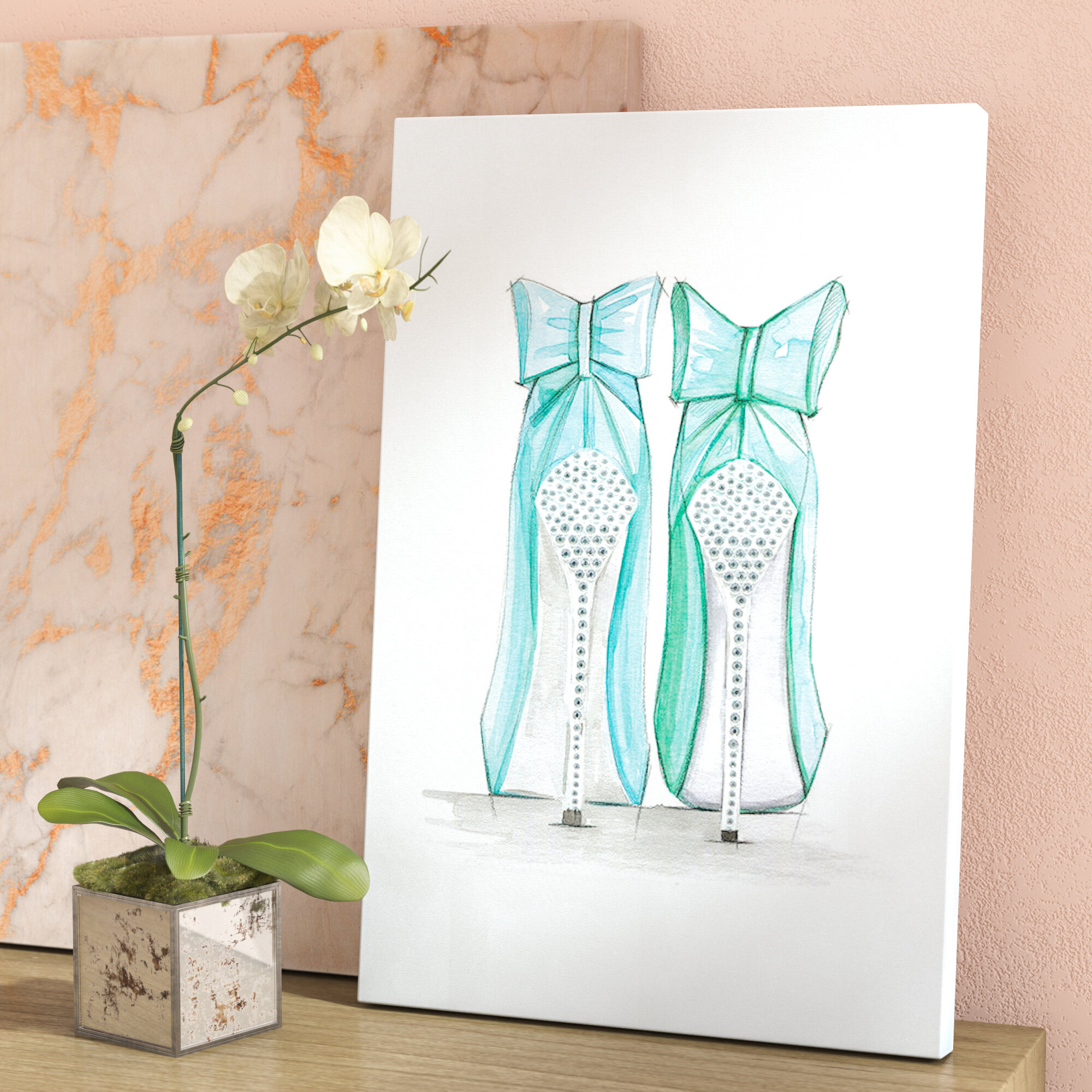 be92cd33ec97 East Urban Home  Tiffany Shoes  Print on Canvas