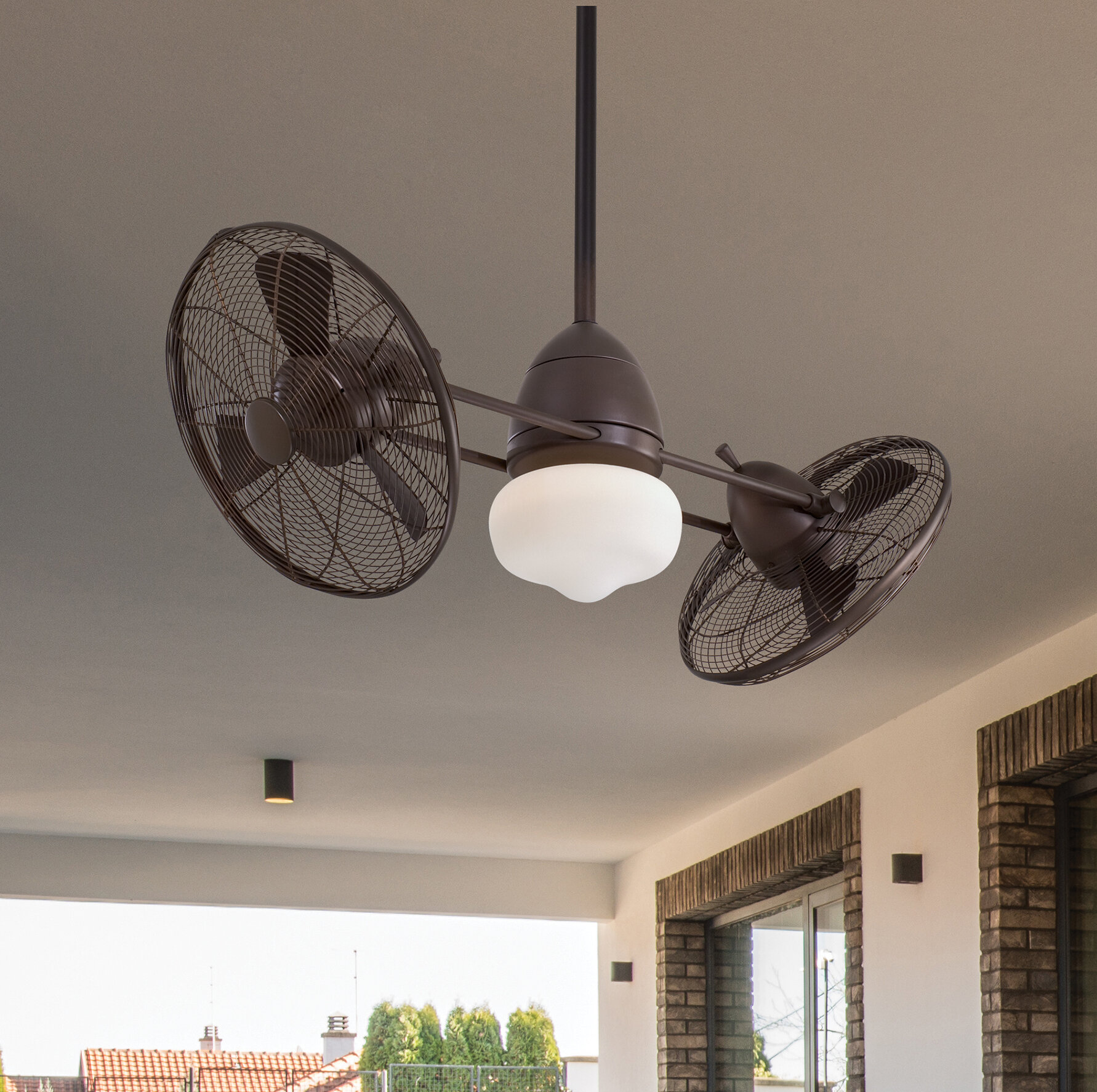 Outdoor Led Dual Ceiling Fan
