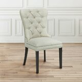 Moronta Diamond Upholstered Side Chair in Beige by Astoria Grand