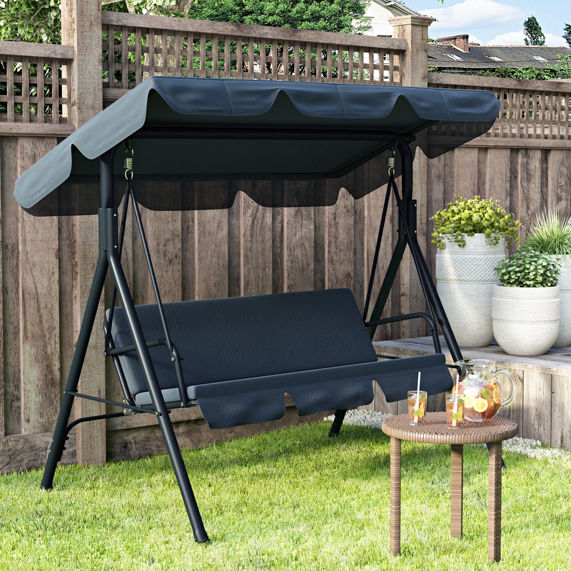 Corgy Outdoor Courtyard Swing Canopy Ceiling Cover Sun Shelters