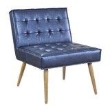 Nastya 26 W Tufted Faux Leather Side Chair by Willa Arlo Interiors