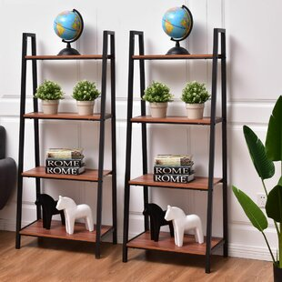 Ebern Designs Fairford Ladder Bookcase (Set of 2)