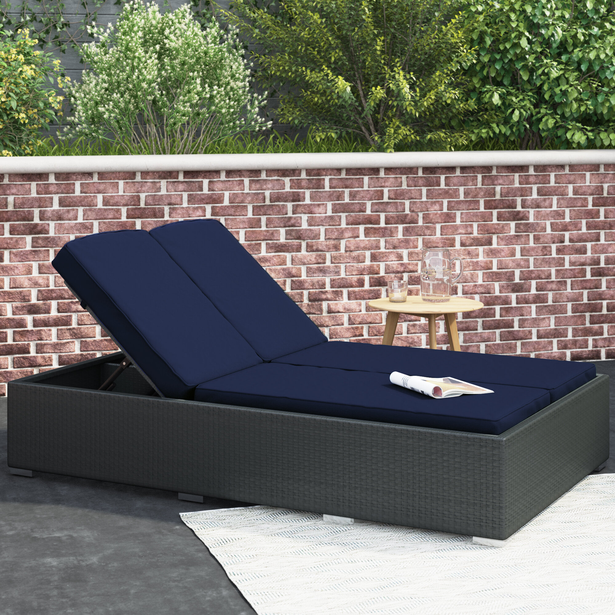 tripp 78 5 long reclining double chaise with cushions