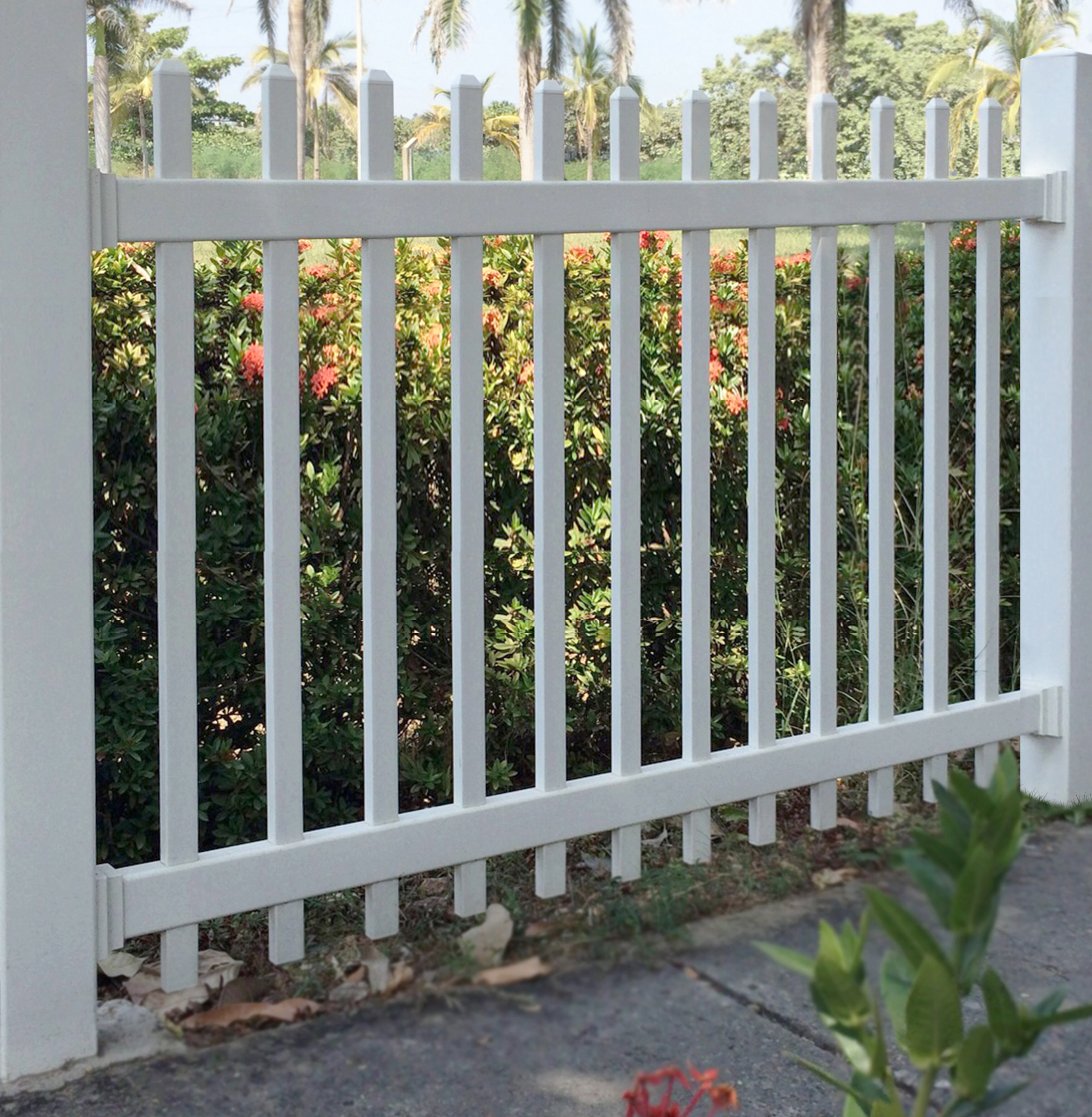 6 Ft W Picket Vinyl Fence Panel