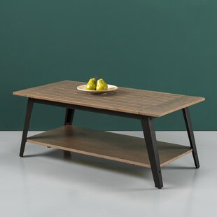 Reviews Cardoso Wood and Metal Coffee Table By Williston Forge