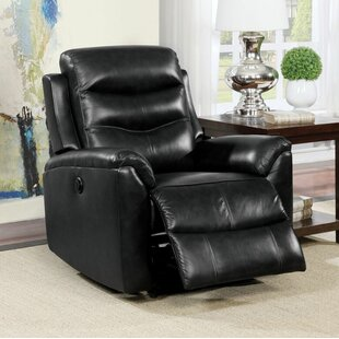 Tincher Motion Genuine Leather Power Recliner