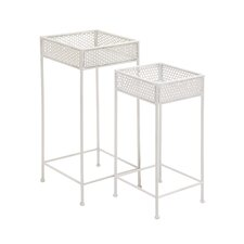2 Piece Plant Stand Set by Woodland Imports