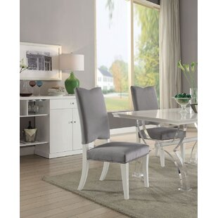 Macalester Upholstered Dining Chair (Set of 2) Rosdorf Park